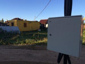 Подключенная к электричеству бытовка