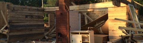 Снос старого дома и расчистка участка