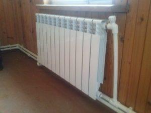 Радиаторы парового отопления в деревянном доме